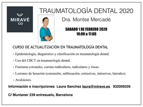 Contenido del curso de traumatología dental 2020
