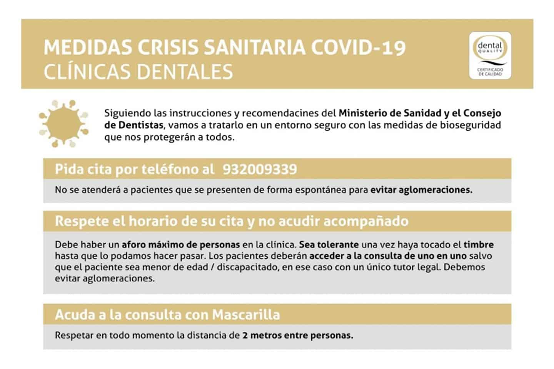 MEDIDAS Y CONSEJOS COMO PREVENCIÓN A COVID-19 PARA ACUDIR A LA CONSULTA DENTAL